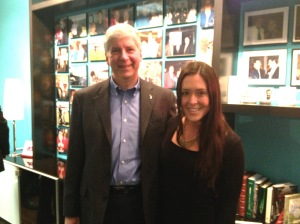 In studio with Governor Rick Snyder
