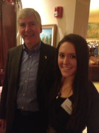 With Governor Rick Snyder at his Christmas Party